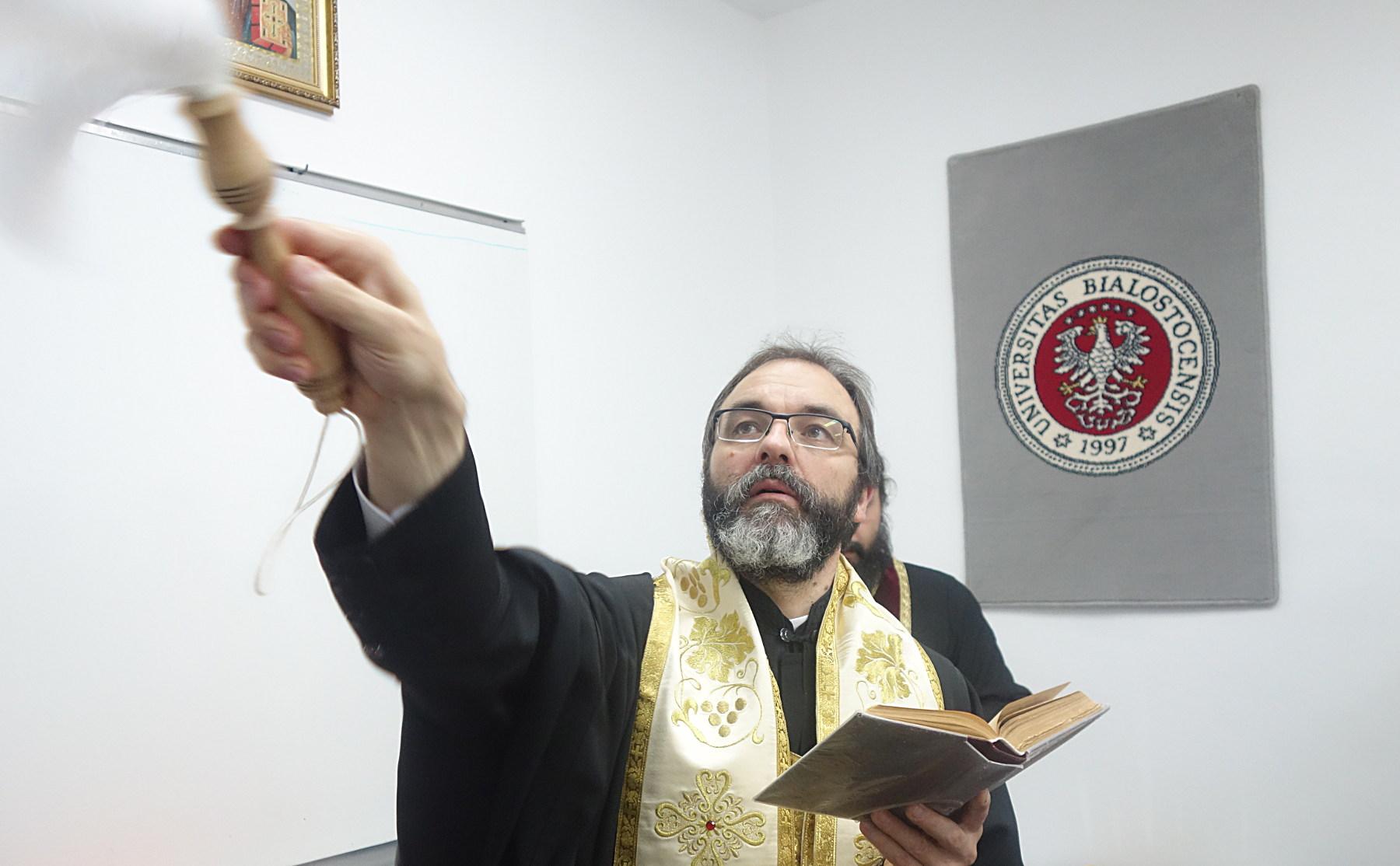 Oświęcenie nowych pomieszczeń Katedry Teologii Prawosławnej UwB